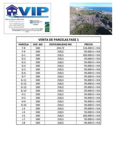 VIP7683: Grundstück zu Verkaufen in Mojacar Playa, Almería